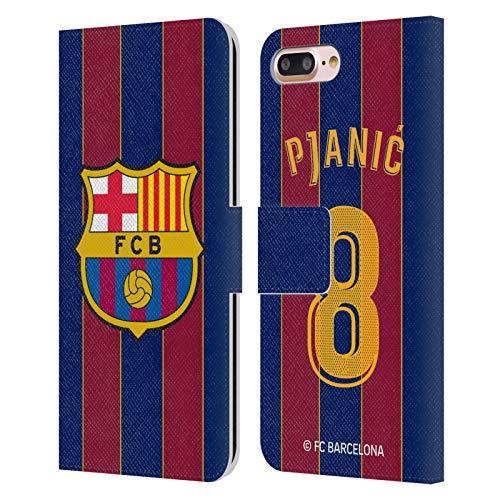 Head Case Designs Licenciado Oficialmente FC Barcelona Miralem Pjanic 2020/21 Players Home Kit Group 1 Carcasa de Cuero Tipo Libro Compatible con Apple iPhone 7 Plus/iPhone 8 Plus