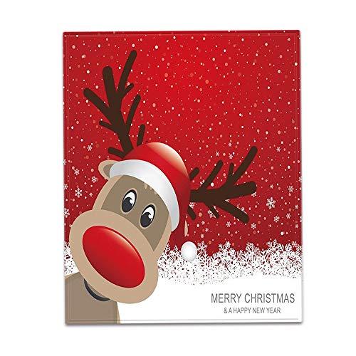 DF 60 x 221 cm Weihnachtsmann-Decke, Festival-Muster, dekorative Weihnachtsdecke, Fleece-Überwurf von Weihnachtsbaum, Schneemann, Flanell, Weihnachtsdecke, Modus 3