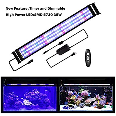 JOYHILL Éclairage d'aquarium LED Blanc Bleu Rouge Vert