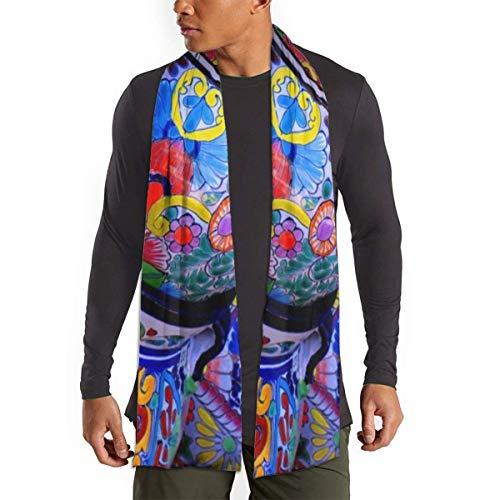 Womens warme lange sjaal wraps grote sjaals nieuwe mooie kom kleurrijke aardewerk afdrukken sjaal