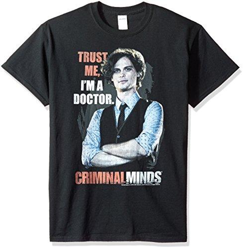 Trevco Camiseta masculina Criminal Minds Trust Me, Trust Black, M