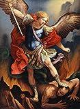 Posterazzi St. Michael Archangel Nostalgia Cards Color Lithograph Poster Print, (8 x 10)