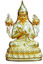 HYBAUDP Statues Buddha Statue of Tsongkhapa, Statue of Pure Copper Ornament, Religious Supplies, Home Decoration, Town Hou...