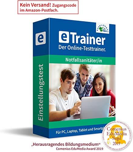 Notfallsanitäter Einstellungstest 2021: eTrainer – Der Online-Testtrainer | Über 1.500 Aufgaben mit Lösungen: Allgemeinwissen, Deutsch, Mathematik, logisches Denken, visuelles Denken und mehr