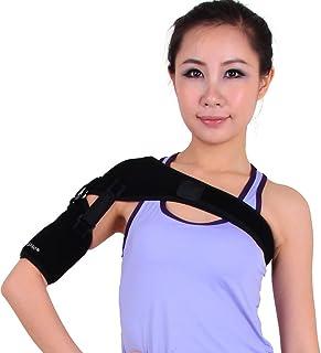 Healifty アームスリングアジャスタブルショルダーエルボーサポートブレースアームの破損と骨折のための人間工学的に設計された医療用スリング(ブラック)