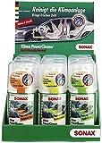 SONAX KlimaPowerCleaner AirAid probiotisch Thekendisplay gemischt (Inhalt: 4 x Ocean-Fresh, 4 x Cherry Kick, 4 x Green Lemon) (100 ml) | Art-Nr.03239410