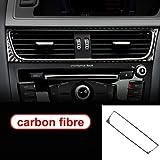 TRJGDCP For la navegación Audi A4 B8 A5 Accesorios de Fibra de Carbono del Interior del Coche de Aire Acondicionado de Control de CD Panel LHD RHD Labra Etiquetas Autopartes