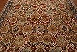 Antiue Design fatto a mano beige tradizionale Nain stile orientale zona tappeti e moquette, 100% Lana, Beige, 5x8(152x244)cm