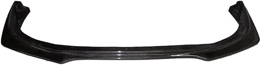Front Bumper Lip Compatible With 2008-2015 Mitsubishi Lancer Evolution EVO X 10 | RA Style Front Lip Protector Splitter Carbon Fiber CF by IKON MOTORSPORTS | 2009 2010 2011 2012 2013 2014