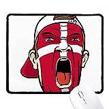 DIYthinker Bandera de Dinamarca Máscara facial maquillaje Cap antideslizante Mousepad Oficina Juego Negro Titched Bordes regalo