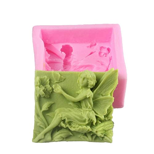 MoldFun Flower Butterfly Fairy Spirit Silicone Mold for Handmade Soap, Bath Bomb, Lotion bar