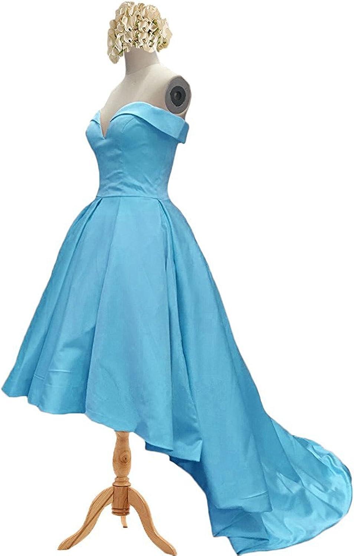 Hjtrust Women Satin  Prom Dresses HiLo 2018 Evening Dresses Formal Gowns H043