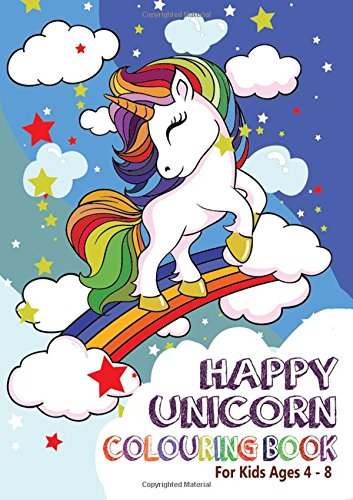 Happy Unicorn Colouring Book: For Kids Aged 4-8 (1