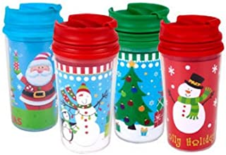 Childrens Kids Christmas Holiday Travel Mugs 11-oz Customizable 4-pack