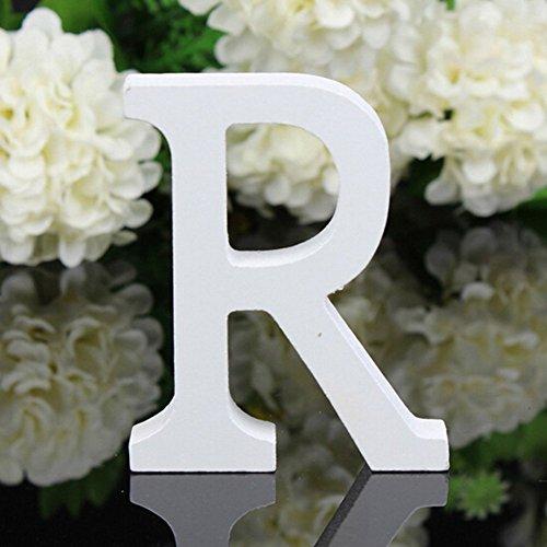 Decorativo Madera Cartas, Colgando Pared 26 Cartas Madera Alfabeto Pared Carta para Dormitorio Boda Cumpleaños Partido Casa Decoración, Freeas (R)