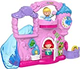 Fisher-Price Little People – Disney Princess Play & Go Castle, portable playset with character figures for toddlers and preschool kids