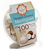 Original Meringue Cookies (Toasted Coconut) • 100 calories per serving, Gluten Free, Low Fat, Nut Free, Low Calorie Snack, Kosher, Parve • by Krunchy Melts