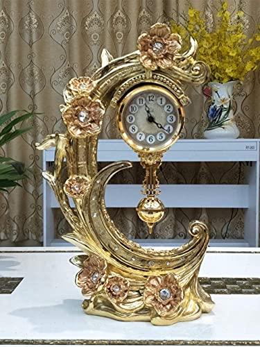 Escultura,Reloj De Sobremesa/Columpio Dormitorio Relojes para El Hogar/Accesorios Decoración 28 * 16 * 43Cm