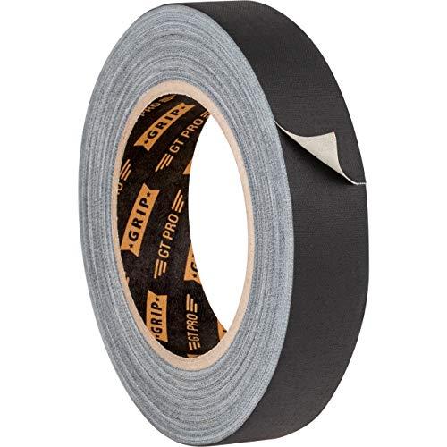 GRIP Eventbasics GT PRO Gewebeband schwarz, 25 mm x 25 m, Gaffa Tape ablösbar, matt und reflexionsfrei
