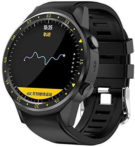 NO BRAND Reloj Inteligente para Hombres con Tarjeta SIM Cámara F1 Relojes Inteligentes Detección de frecuencia cardíaca Teléfono Deportivo Reloj Conectado Reloj Android iOS Negro
