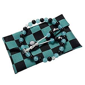 【ひるた仏具店】 子供用数珠 念珠 念珠袋セット 市松模様 数珠セット 念珠袋つき