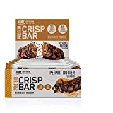 Optimum Nutrition Protein Crisp Bar Barritas Proteínas con Whey Protein Isolate, Dulces Altas en Proteína y Low Carb, Peanut Butter, 10 Barras (10 x 65 g)
