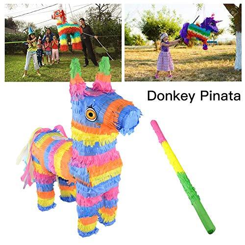jinclonder 2019 la más Nueva piñata de Burro, Fiesta de cumpleaños para niños Rainbow Party Supplies Comic Themed Party Pinata
