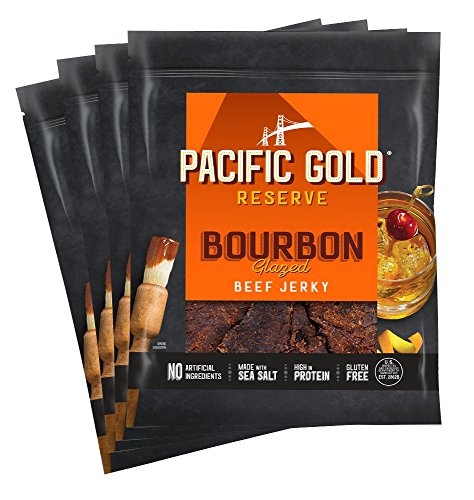 Pacific Gold Reserve Bourbon Glazed Beef Jerky, 2.5 Ounce (Pack of 4)