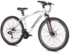 """6061 18.5"""" Aluminum Frame and Aluminum Crown Front Suspension 29"""" Double Wall Alloy Rims with 29 x 2.30 tires and Shimano 7 speed Freewheel, Front and Rear Derailleurs and Rapid Fire 21 Speed Shifters Front & Rear Mechanical Disc Brakes 31.8 Alloy Ha..."""