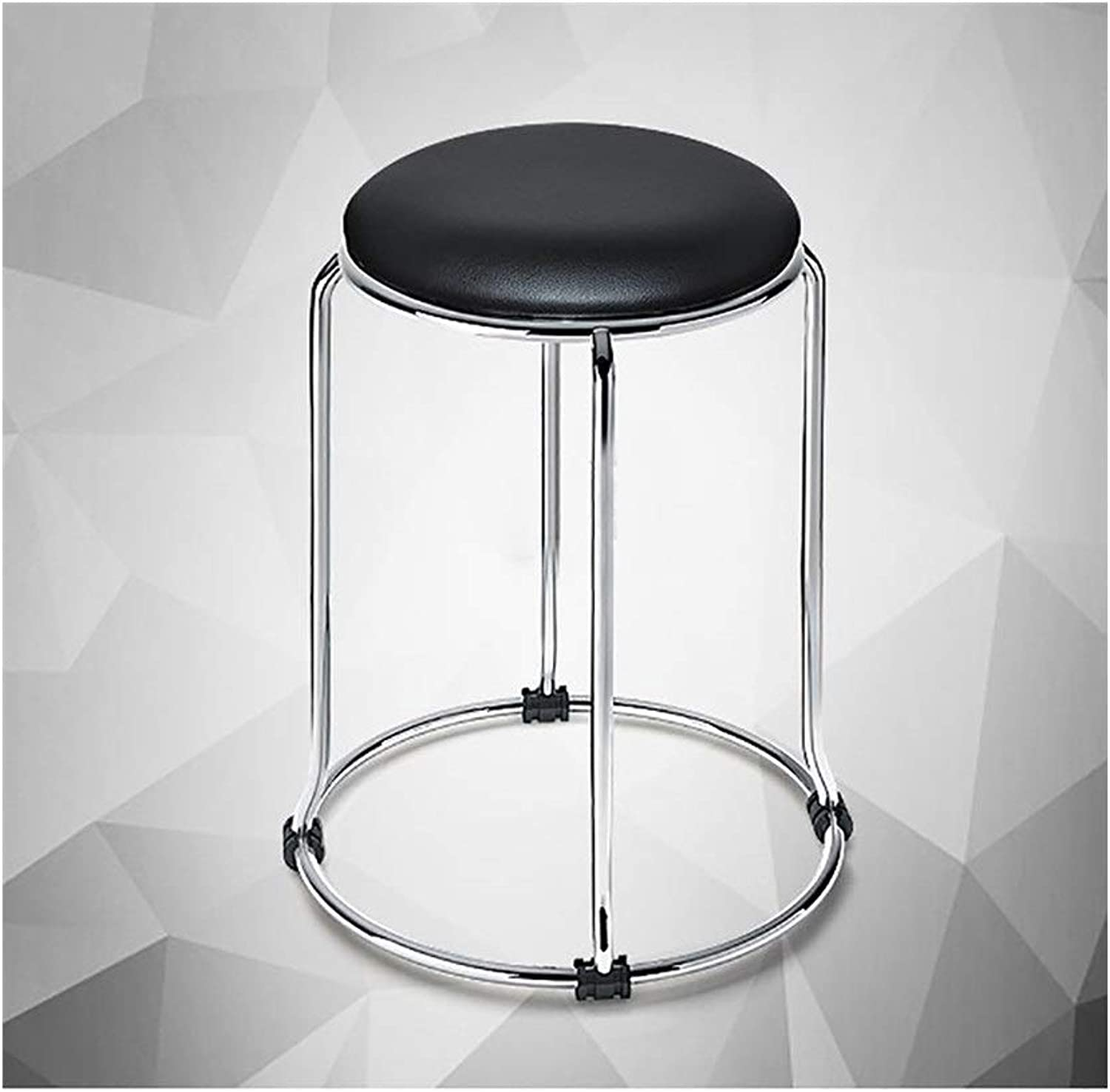 DYFYMX,Stylish Stool Fashion Simple Stool Household Metal Table Stool high Stool Wooden Stool Anti-Skid Furniture (color   D)