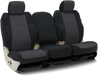 Coverking Custom Fit Seat Cover for Jeep Wrangler YJ 2-Door - (Neoprene, Black/Charcoal)