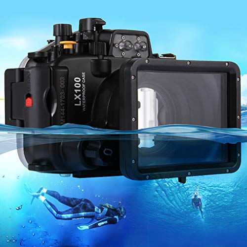 Uplord 40m Underwater Swimming Diving Waterproof Camera Case Diving Protective Housing Shell for LUMIX DMC-LX10,Diving Shell+O Seal+Cleaning Cloth+Hand Strap+Neck Strap