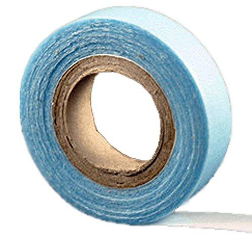 cinta de peluquería Azul de doble cara–extra fuerte para extensiones de pelode trama de piel hechas por uno mismo –aguantan 3 meses.