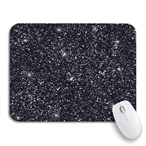DZDZXQG Gaming Mouse Pad,Shimmer Black Abstract Argent Bright Brightly Dark Glamour Glow,9.5'x7.9' Nonslip Rubber Backing Mousepad for Notebooks Computers Mats