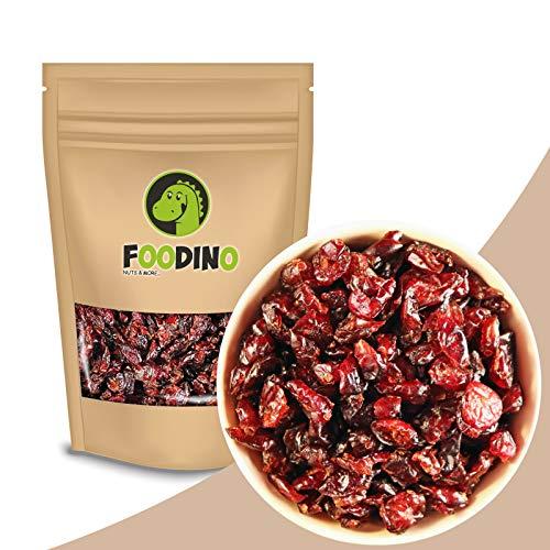 Cranberries getrocknet Apfelsaft gesüßt ungezuckert ungeschwefelt Cranberry ohne Zucker vegan Halal Trockenfrüchte Trockenobst 500g - 5kg wiederverschließbar Premium Qualität FOODINO (1kg)