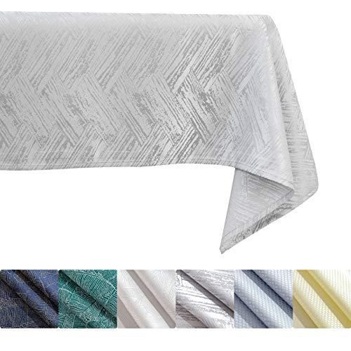 KINLO Tovaglia 140 x 180 cm effetto cemento tovaglia effetto loto idrorepellente grigio biancheria da tavola antimacchia di facile manutenzione lavabile antimacchia