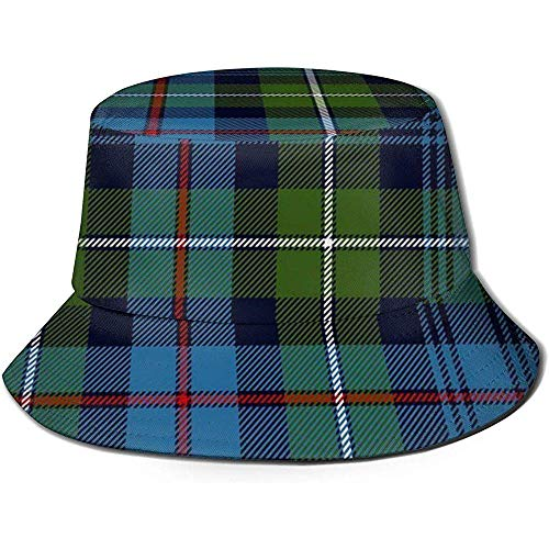 Cappello da Pescatore Mackenzie Highlander Tartan Colori antichi Berretto da Pescatore da Sole Cappello da Esterno UV Cappello di Protezione Solare Berretto da Viaggio Pieghevole Nero
