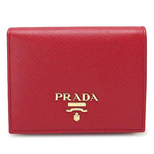 [プラダ] 折財布 二つ折り 型押しレザー フォーコ 1MV204 QWA F068Z/SAFFIANO METAL FUOCO [並行輸入品]