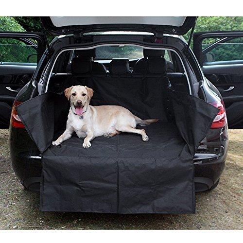 XtremeAuto® Universal Kofferraumschutz, passt direkt, mit Stoßstangenschutz, Schwarz