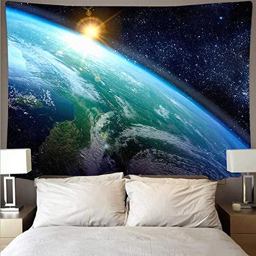 KHKJ Universo Misterioso Cielo Estrellado Cielo Espacio Galaxia Arte Tapiz psicodélico Colgante de Pared Toalla de Playa Tela Colgante A3 200x180cm