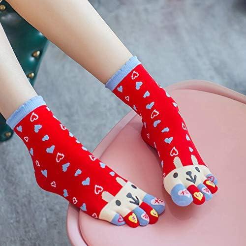 Fancy Pumpkin Cute Cartoon Design Women Five Toes Finger Socks calcetines casuales de invierno para mujeres