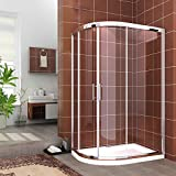 <span class='highlight'>1200</span> x 800 <span class='highlight'>mm</span> <span class='highlight'>Quadrant</span> Shower Enclosure Cubicle 6<span class='highlight'>mm</span> Easy Clean Glass Door Left Entry   <span class='highlight'>Stone</span> <span class='highlight'>Tray</span>   Waste Trap