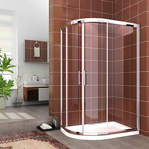 Plato de ducha y puerta con entrada a la derecha, con trampa para ...