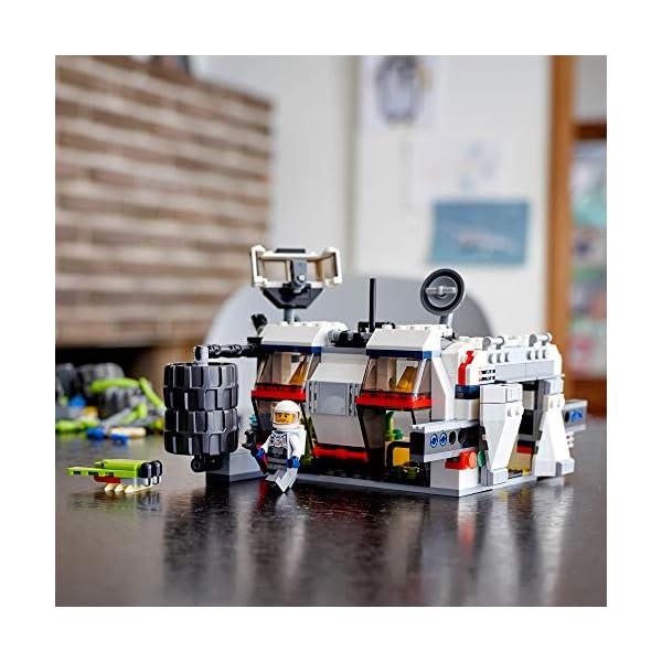 LEGO Creator Vehicles Creator3en1Róver Explorador, Basey TransbordadorSet, Juguete de Construcción Nave Espacial, multicolor (Lego ES 31107)