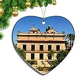 Hqiyaols Ornament España Jerez De La Frontera Navidad Adornos Colgantes Decoración Pieza Cerámica Forma Corazón Recuerdo Ciudad Viaje Regalo