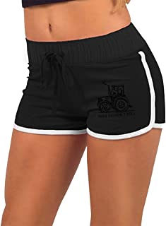 Womens Sexy Hot Pants This is How I Roll Funny Farmer Or Farming Tractor Low-Waist Sport Athletic Exercise Shorts