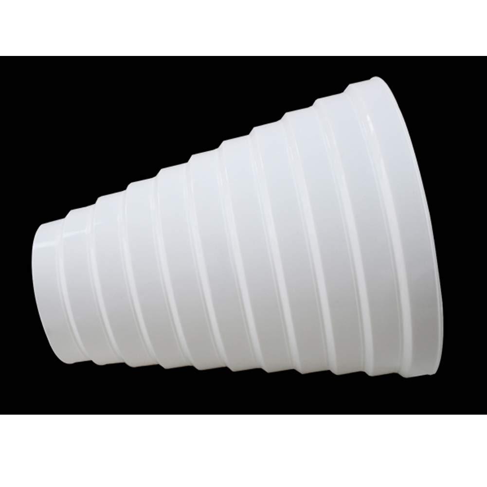 SheMi Plástico Redondo Accesorios Conducto Tubo Reductor - Conductos Tubo Multi Anillo Reductor Extractor Ventilador Ventilación Manguera Conector Adaptador 100mm-200mm Blanco: Amazon.es: Bricolaje y herramientas
