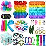 boaber Fidget Toys Pack, Fidget Toy Sets Fidget Pack Barato, Simple Dimple Fidget, Push Bubble Fidget Juguete Sensorial para Niños ( Size : F )