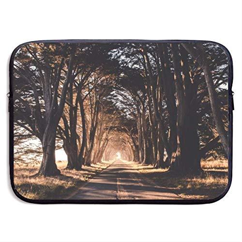 Laptop Sleeve Case Woods and Road Notebook Bag Laptop Shoulder Bag Protective 15 Inch