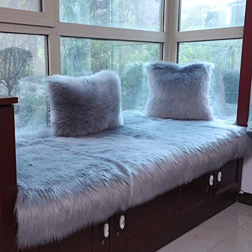 AMYDREAM Plüsch verdickt, Anti-rutsch Bay Window pad, Fensterbank Matte Sofa-Matte Sitzbank sofakissen Tatami Matte pad-Grau 60x120cm(24x47inch)